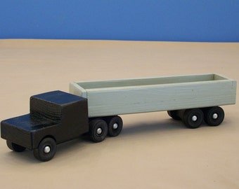 Wood Toy Tractor Trailer,Toy  Wood Truck, Wooden ToyTruck, Wood Toy, Kids Toy Truck, Boys Toy Truck, Boys Toy Wood Truck