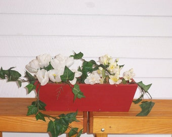 Rustic Wood Flower Box , Country Rustic Center Piece, Deck Flower Box, Rustic Wedding Center Piece,  Window Flower Boxes
