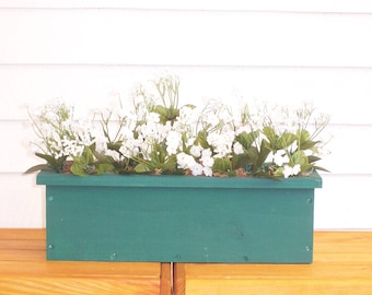 Rustic Window Box, Country Center Piece, Rustic Center Piece, Deck Flower Box, Patio Flower Box, Indoor Flower Box, Wood Flower Box