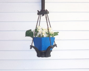 Hanging Flower Pot Planter, Garden Hanging Planter,Hanging Plant,Deck Hanging Planter, Wood Hanging Planter, Indoor Outdoor Hanging Planter