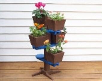Flower Pot Stand Flower Pot Shelf Deck Decor Patio