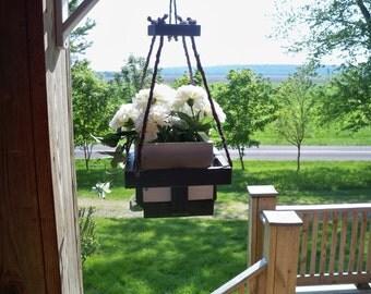 Hanging Flower Pot Planter, Garden Decor, Hanging Plant, Deck Hanging Planter, Patio Hanging Planter, Indoor Hanging PLanter,