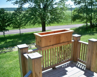 Cedar Planter, Deck Planter, Large Cedar Deck Planter, Garden Cedar Planter, Patio Cedar Planter, Yard Cedar Planter, Wood Planter,