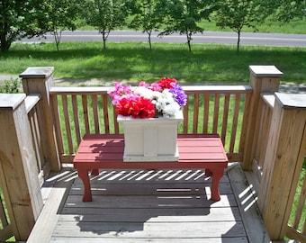 Rustic Wood Large Flower Pot, Deck Wood Planter, Garden Planter, Wood Large Planter, Patio Wood Planter, Large Wood Flower Pot