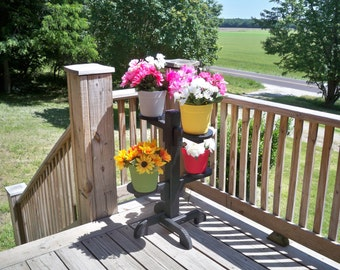 Plant Stand,Flower Pot Stand,Wood Plant Stand, Deck Plant Stand, Patio