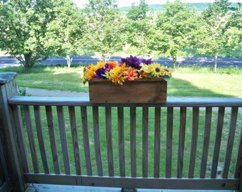 Rustic Window Box , Rustic Center Piece, Country Center Piece, Window Flower Box, Window Flower Planter, Large Flower Pot, Wood Flower Pots