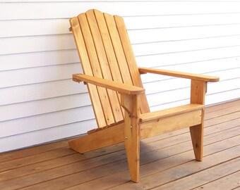Adirondack Wood Chair, Adirondack Furniture, Outdoor Wood Furniture, Wood Deck Furniture, Patio Wood Furniture, Deck Chair, Garden Chair