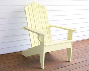 Wood Adirondack Chair, Adirondack Chair,Wood Chair, Patio Furniture,  Deck Chair, Garden Furniture,Wood Deck Furnitre, Wood Patio Furniture