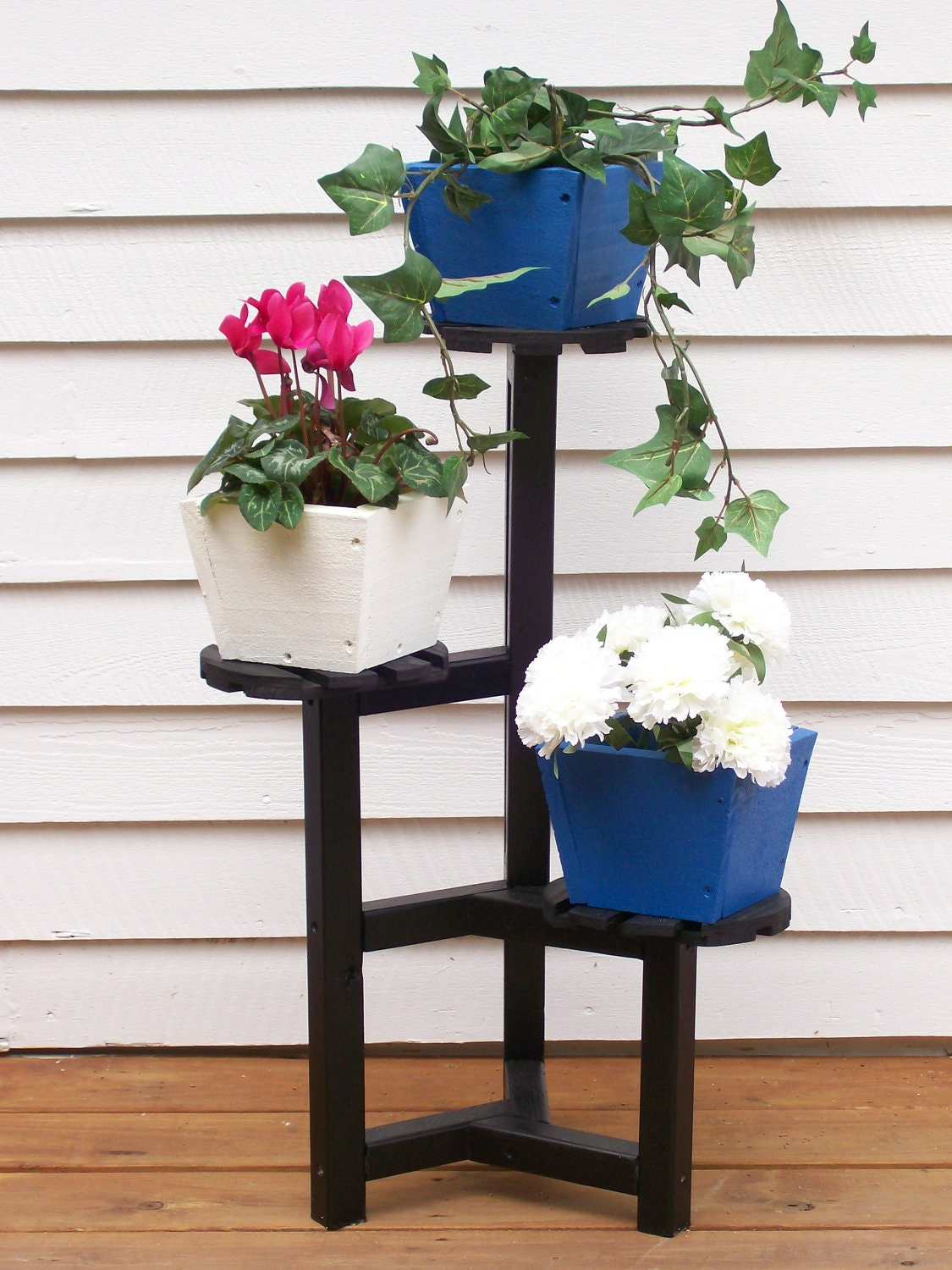 Plant stand wood plant standflower pot stand plant stand - Steel pot plant stands ...