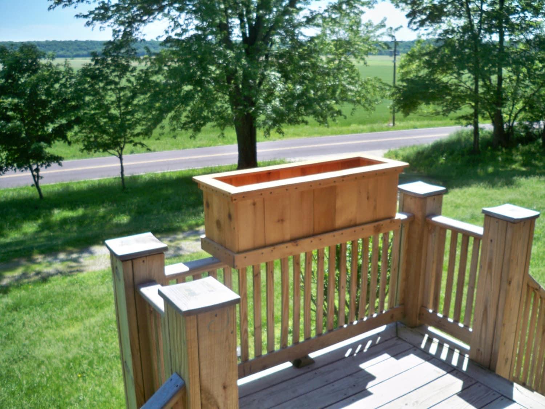 cedar planter deck planter large cedar deck planter garden
