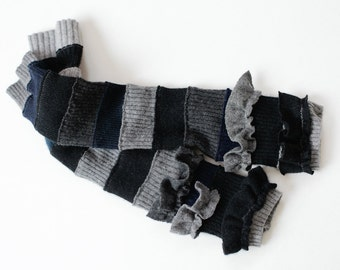 Recycled Cashmere Rib Arm Warmers