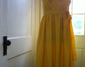 The Mandy Buttercup Dress- maternity- women's yellow cotton pinstripe sundress- fully lined