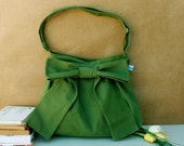 Bags handmade  Lovely Bag in Green  patterned everyday purse  special  only  for you