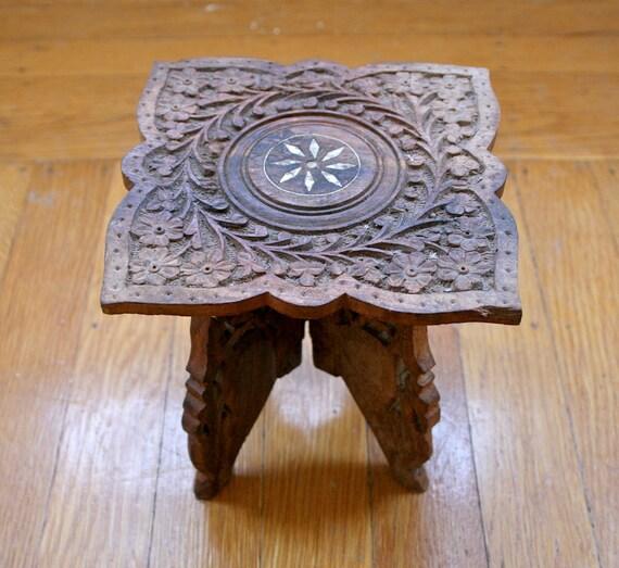 Vintage Mini Wood Table