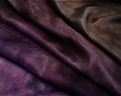 Smoky Quartz Purple - Aubergine / Eggplant color - silk ponge 5 momme - Hand dyed painted perfect for nuno felting / 1,5 metre