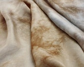 Tranquil tones - silk ponge 5 momme - Hand dyed painted perfect for nuno felting / 1 metre