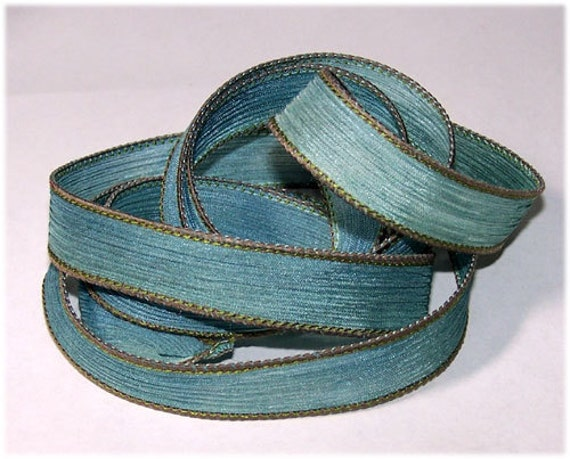 Hand Painted Silk Ribbon Nostalgic Wrist Wrap Ribbon