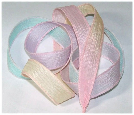 Hand Painted Silk Ribbon Princess Wrist Wrap Ribbons Sassy Silks