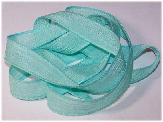 Wrist Wrap Ribbons Island Breeze Hand Painted Silk Ribbons