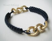 C U S T O M Better Half Bracelet (The listing is for One Custom Bracelet - Gimp and Chunky Gold or Silver Chain)