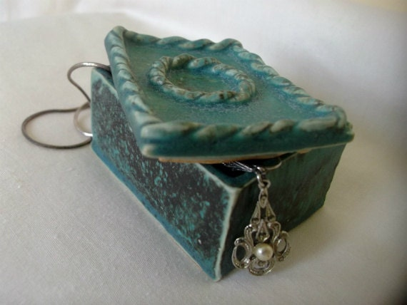 Turquoise Ceramic Trinket Box