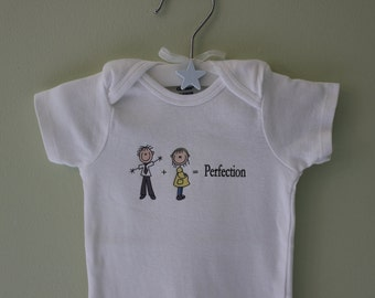 Stick Figure Daddy Plus Mommy Equals Baby Novelty Onesie