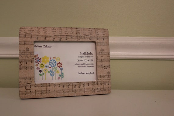 Classic Sheet Music - Decoupage Picture Frame