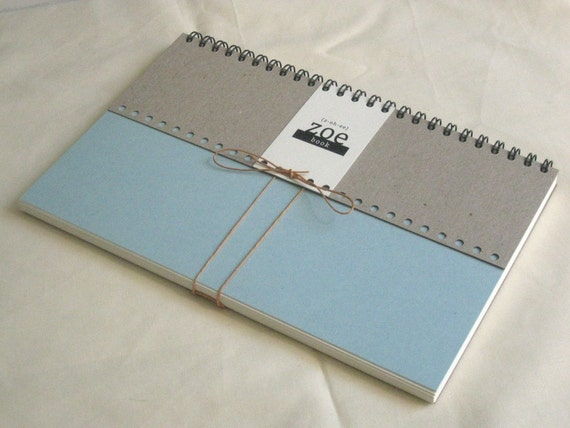Zoe Book: blank paper with pale blue cover