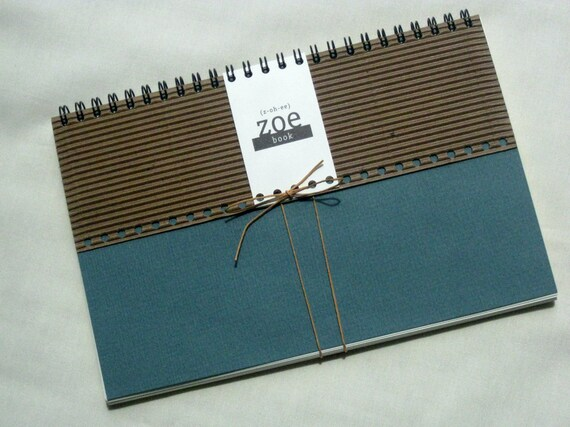 Zoe Book: Mixed Paper with teal green cover