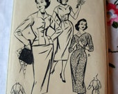 Vintage 1940s to 50s Dress and Jacket Sewing Pattern STYLE 1014. Bust 34 inches.