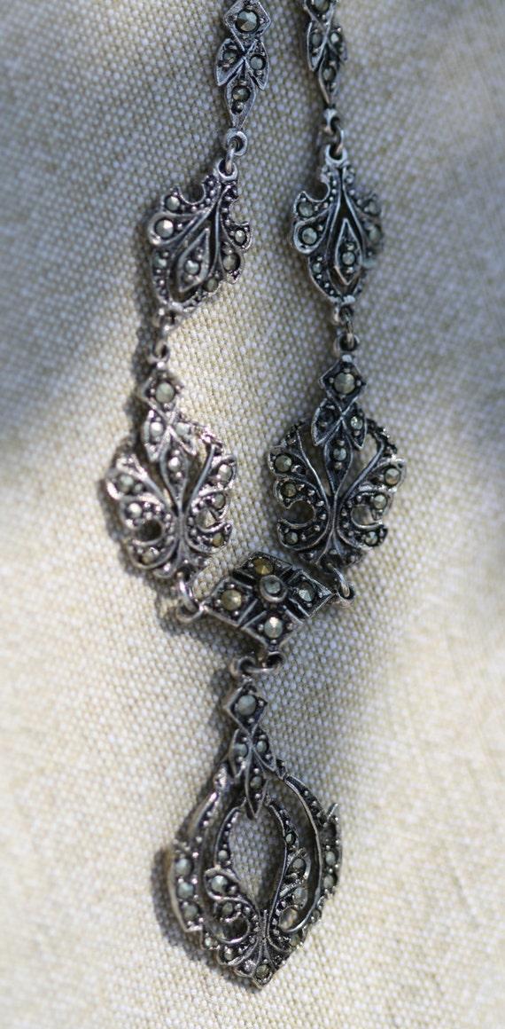 Marcasite necklace - vintage, elegant and sparkly