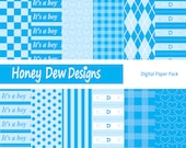 Digital Paper Pack 022 - It's a Boy Patterned Paper