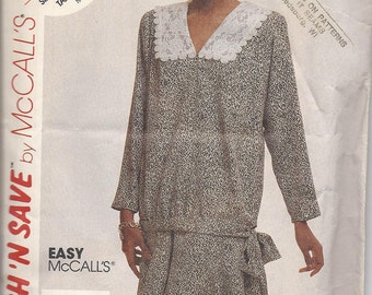 Vintage McCalls 3863 Stitch N Save Misses Blouse and Skirt  Size 10  1988 UNCUT