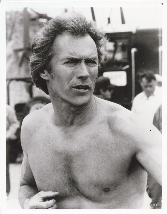 CLINT EASTWOOD 8x10 Black and White Photo  1980s