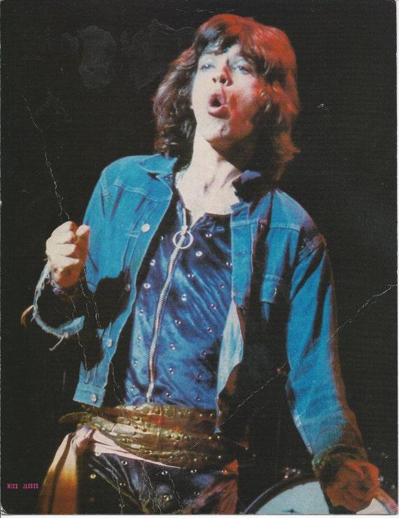 Mick Jagger 102 1973 Rising Signs LTD 8.5 X 11