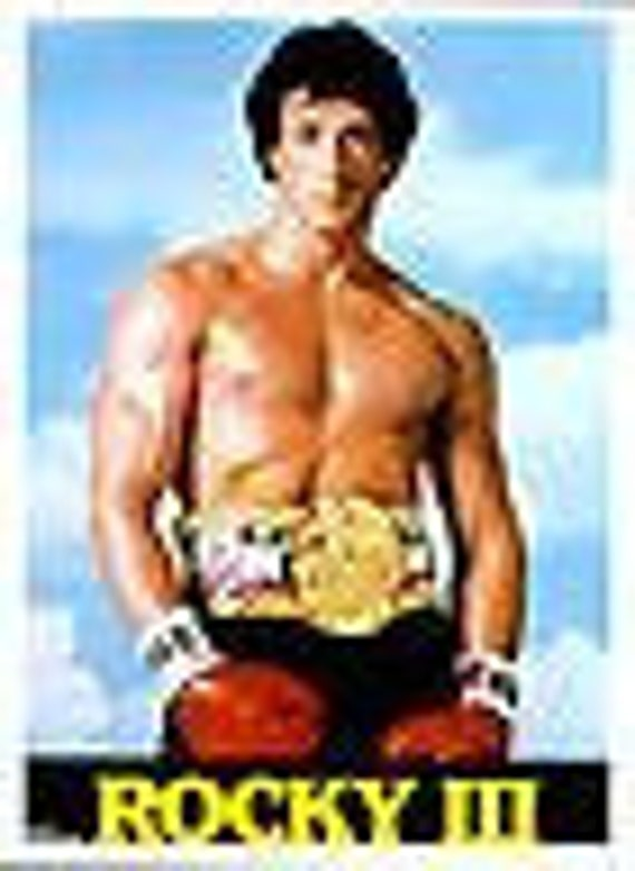 ROCKY III Movie Poster Copyright 1982 United Artist Corp Dist. Larry Green Prod. 20 X 28