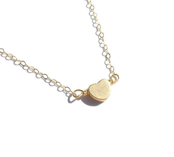 heart necklace - simple, everyday