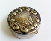 Antique Silver Pill Box, With Hallmark