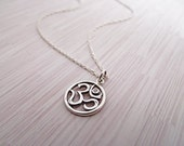 Om Diamond Necklace, Ohm Necklace, Diamond Necklace, Sterling Silver Necklace, Charm, Ohm, Yoga Jewelry