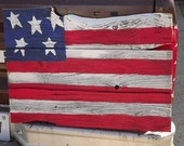 American Flag on 100 Year Old Barn Wood Primitive American Flag Fourth of July