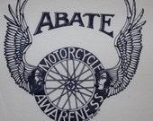Vintage ABATE Motorcycle Awareness Shirt 1991