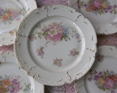 Shabby Chic chintz floral fine china dessert set of 5 tea time Bavaria