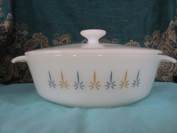 Vintage Anchor Hocking Candleglow Covered Casserole