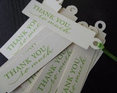 """Pack of 50 Thank You Tags """"Thank You So Much"""""""