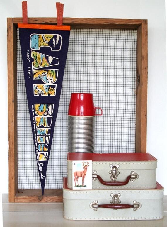 large vintage pennant souvenir cape breton, canada cabot trail AWESOME