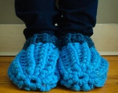 2 Pairs of Chunky Crochet Oma Slippers