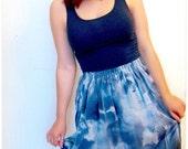 Handmade Asymmetrical Skirt: Cloudy Skies