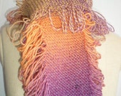 hand knit scarf: Creamsicle