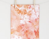 Peaches & Cream Water Color Archival Print - By Stella Savoy - Featured in Cottage and Bungalows July Magazine