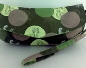 Clutch / Wristlet with Detachable Wrist Strap, Cotton, ready to ship